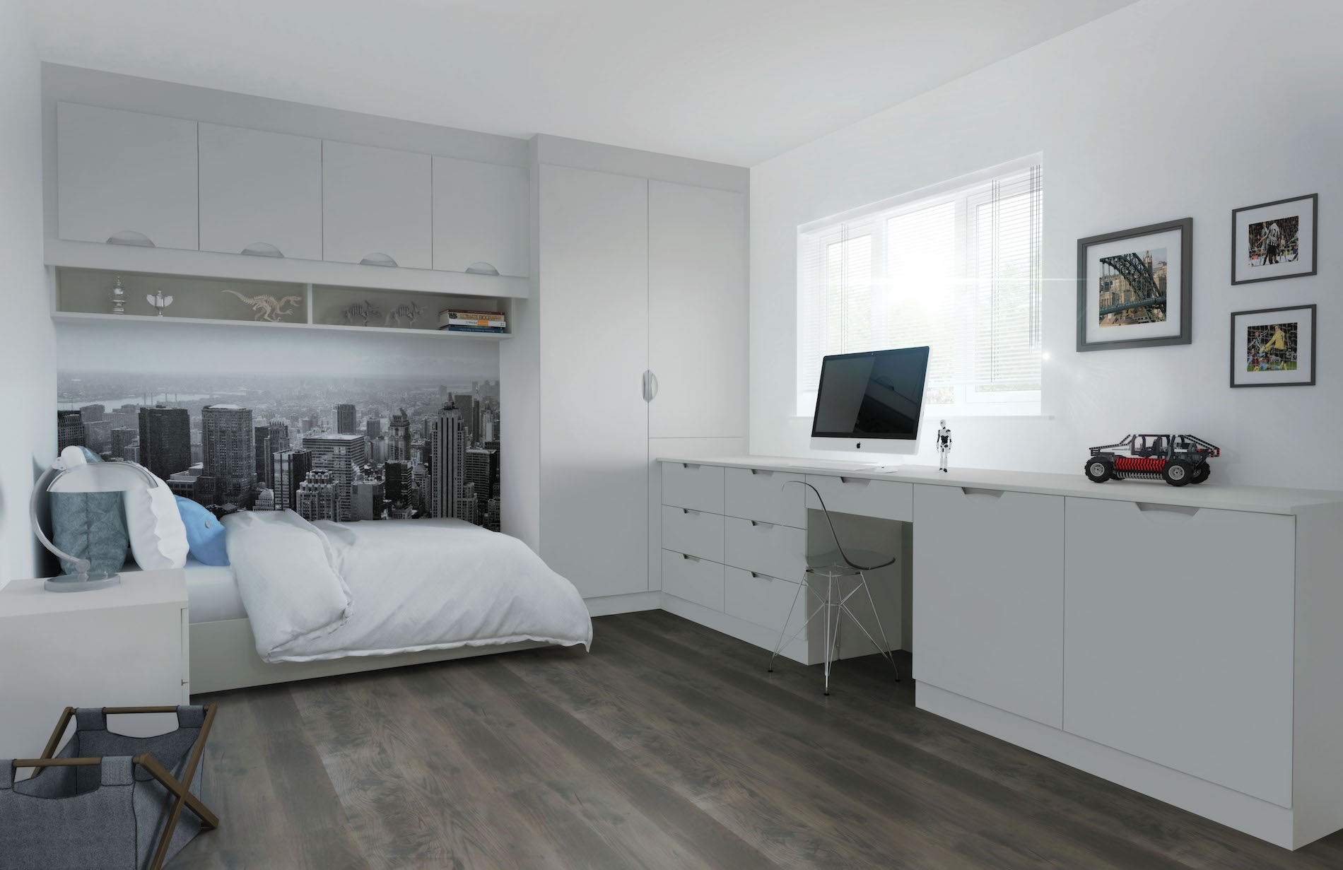 TKC Coniston Scoop Bedroom - Matt Light Grey