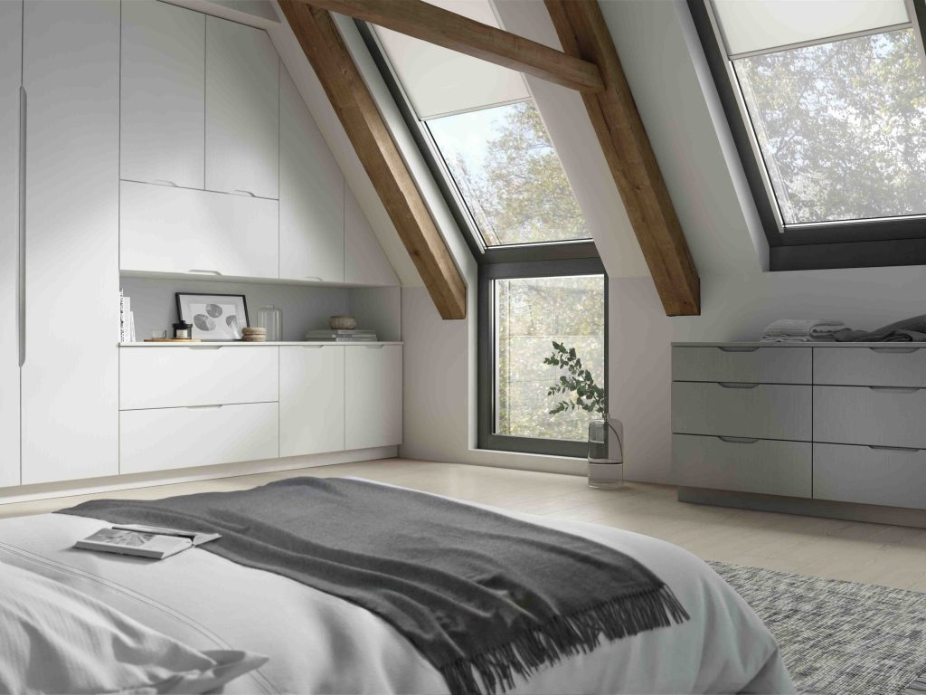 OS Brentford Quadra Bedroom - White & Light Grey