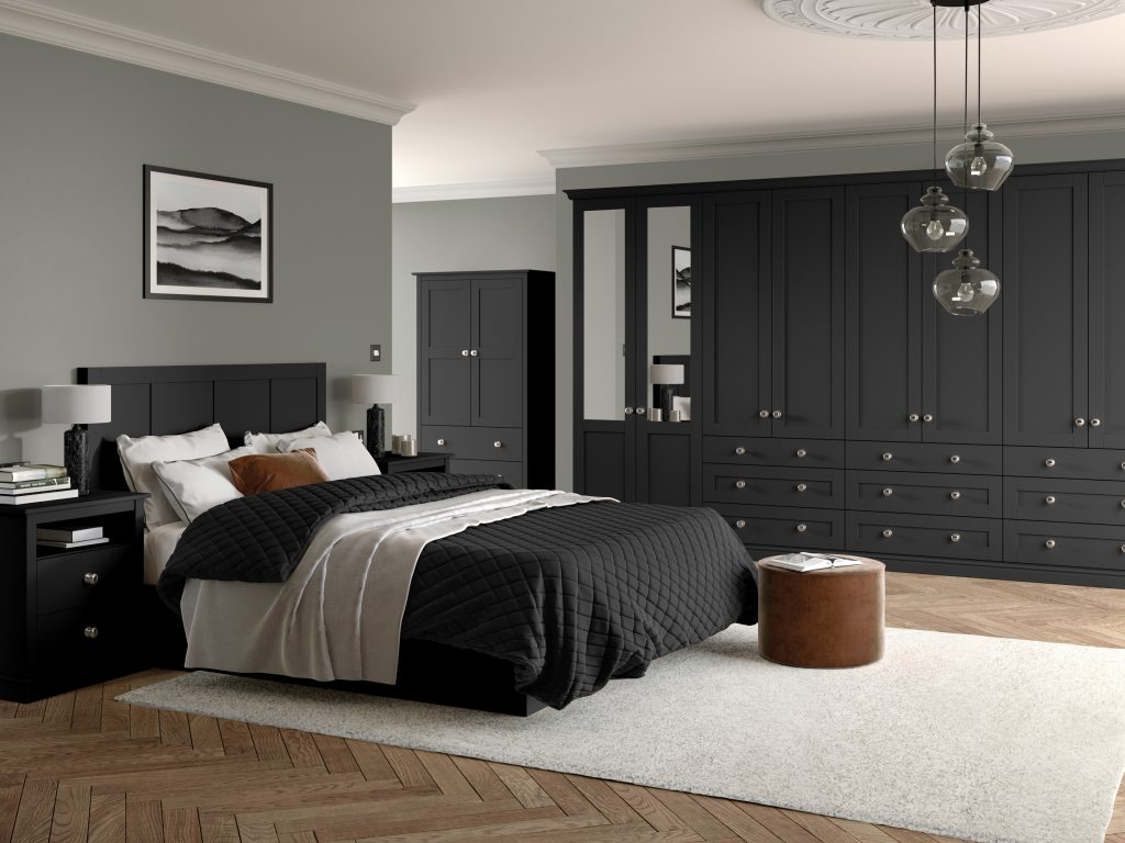 OS Loxley 5 Piece Bedroom - Graphite
