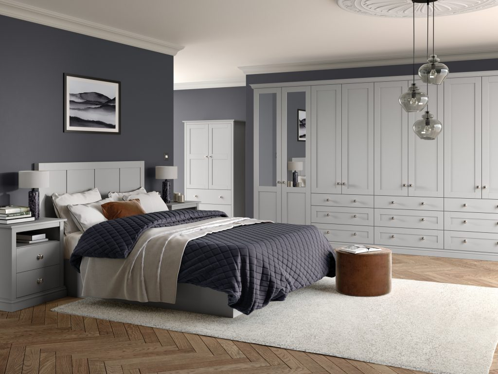 OS Loxley 5 Piece Bedroom - Light Grey