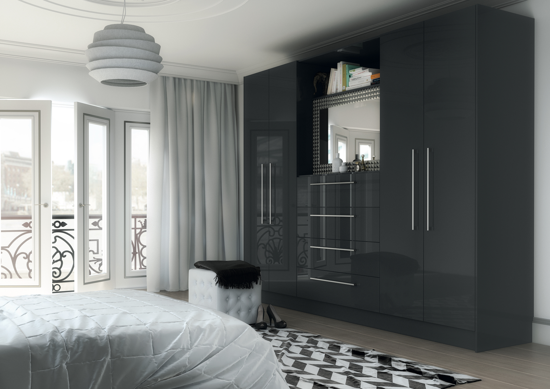 TKC Vivo Gloss Bedroom - Anthracite