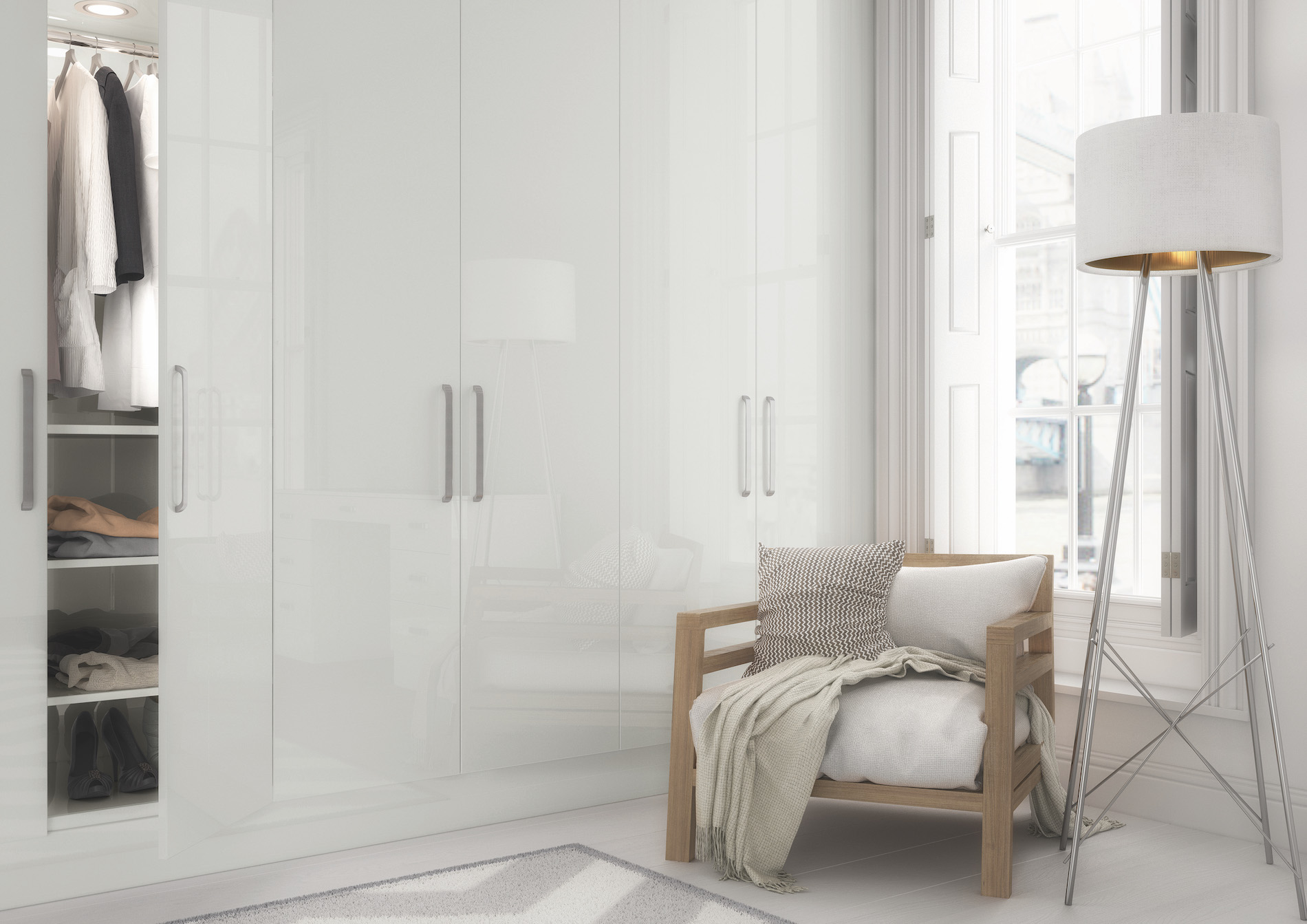 TKC Vivo Gloss Bedroom - Light Grey